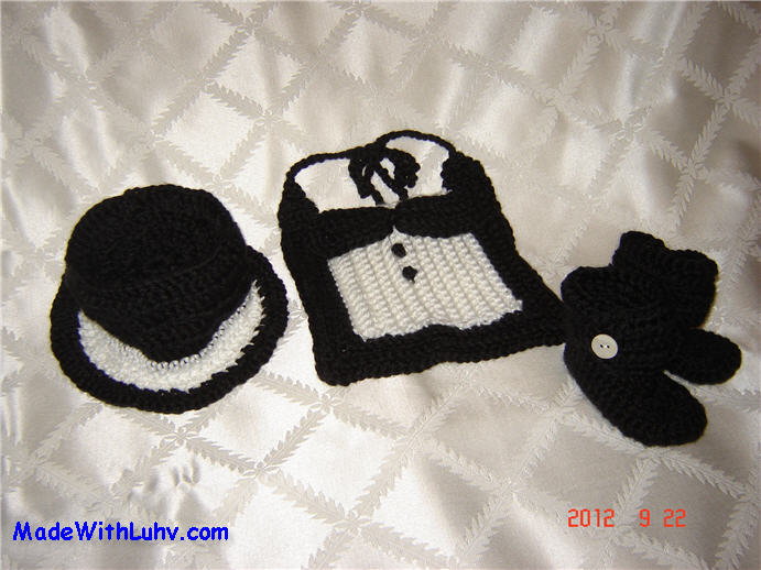 Buy Baby Tux,Baby Top Hat, Baby Black Boots for sale