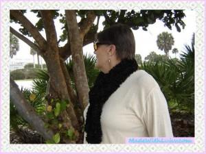 Buy Black Scarf, Handmade Knitted Black Scarf Boa