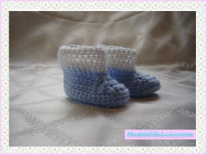 Buy Blue Baby Boy Booties