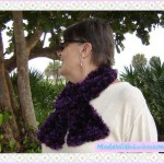 Purple Scarf Hand Knitted