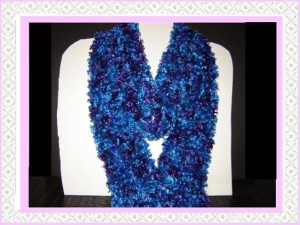 Buy peacock blue knitted scarf boa