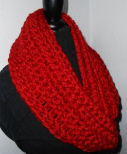 Red Infinity Scarf Red Infinity Scarf Chunky Cowl Bulky Infinity Loop Scarf for Sale
