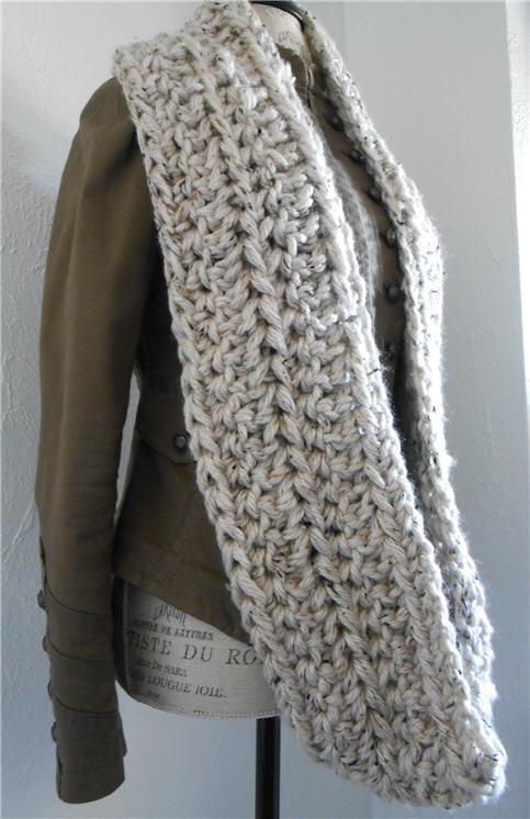 Wear Infinity Scarf as a single Loop Scarf