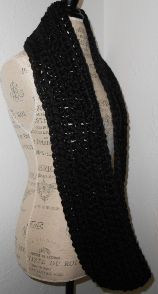 black infinity scarf cowl