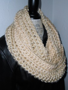 winter white infinity scarf cowl