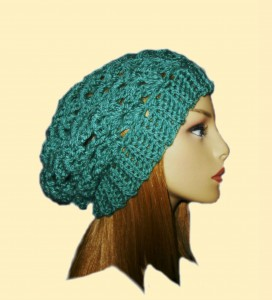 Kelly Green Slouchy Beanie