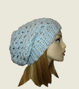 Hat Light Blue Crochet Hat
