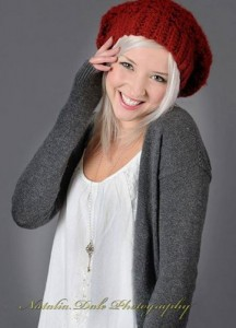 Gorgeous Dark Red Slouchy Beanie Hat by 2 Sisters Hand Made in USA