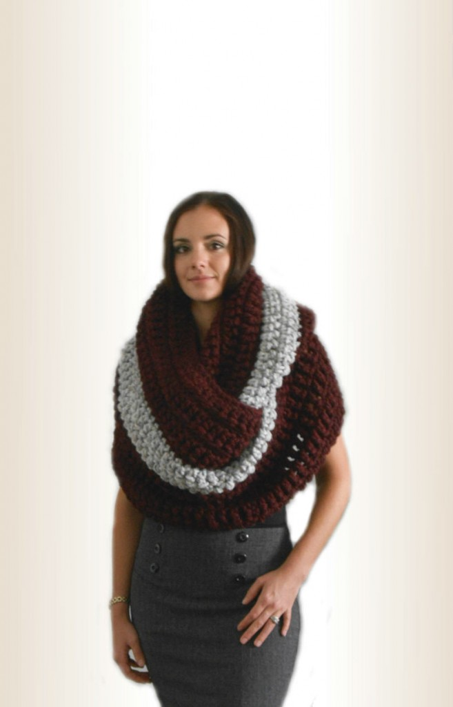 Crochet 2014 Super Oversize Chunky Infinity Scarf  Cowl