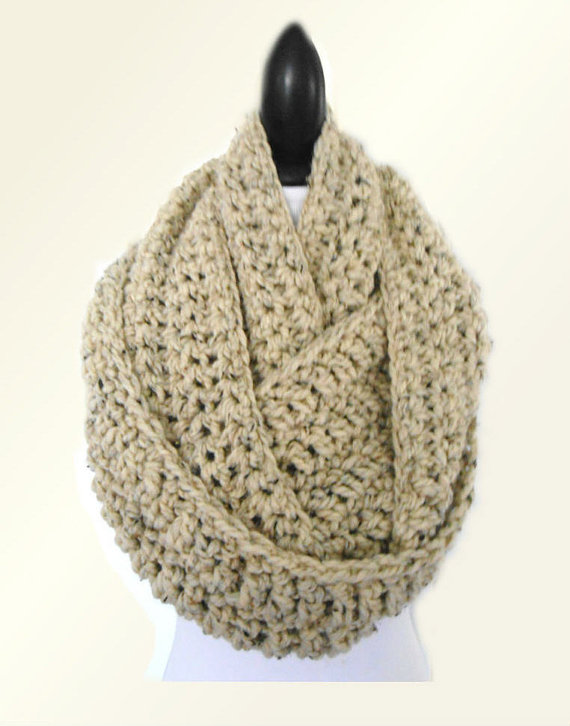 Oversize infiniti scarf cowl 2 sisters handmade