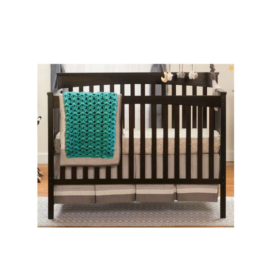 Sea Green Nursery Room Decor Handmade Crochet Baby Blanket