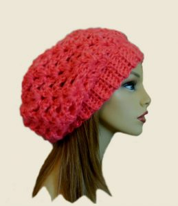 Slouchy Hat Beanie 2 Sisters Handmade Etsy Coral