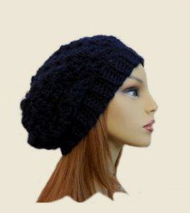 Dark Blue Crochet Hat