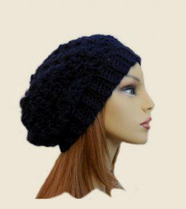 Dark Blue Crochet Hat