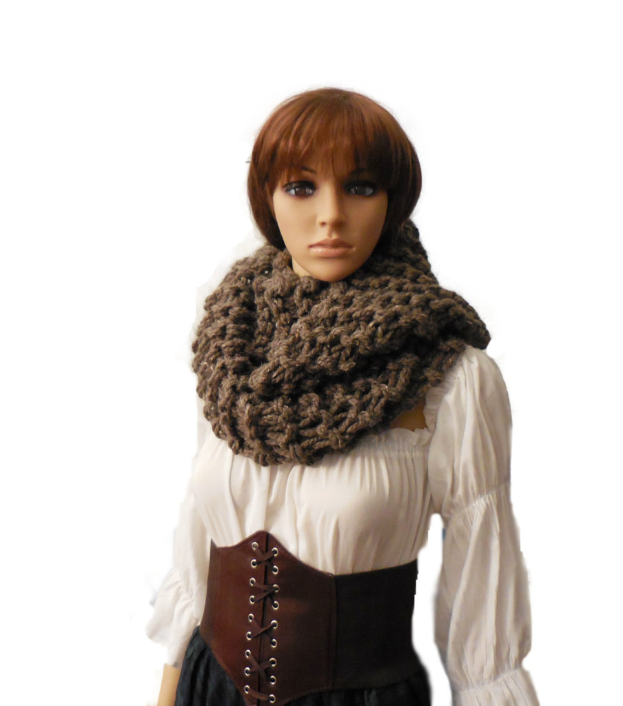 Outlander Claire Knit Infinity Scarf Oversized